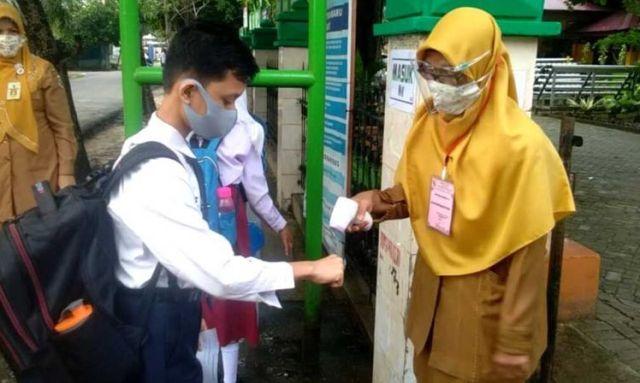 Meski Riau Pandemi, Kota Pekanbaru dan Pelalawan Lakukan Belajar Tatap Muka di Sekolah
