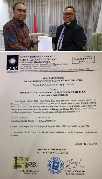 DPP PAN Siap Menangkan Suyatno - Jamiludin di Pilkada Rohil 2020,Irvan Herman:Kader Bergerak