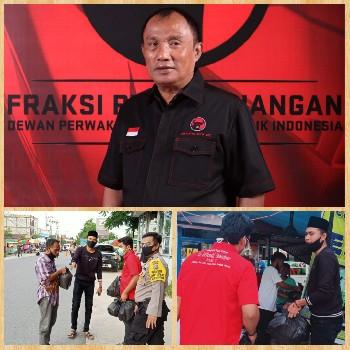 Di Bulan Ramadhan, Relawan Effendi Sianipar Berbagi Sembako Dor to Door