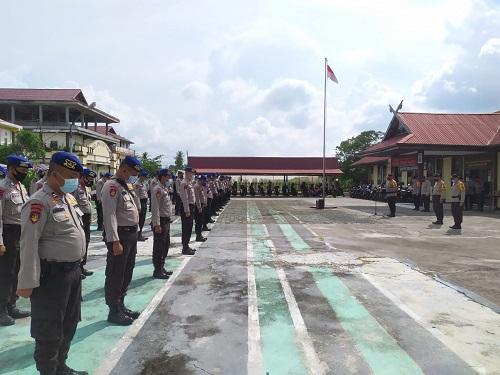 80 Personel BKO Polda Riau Kembali Usai PAM Pilkada 2020 di Meranti