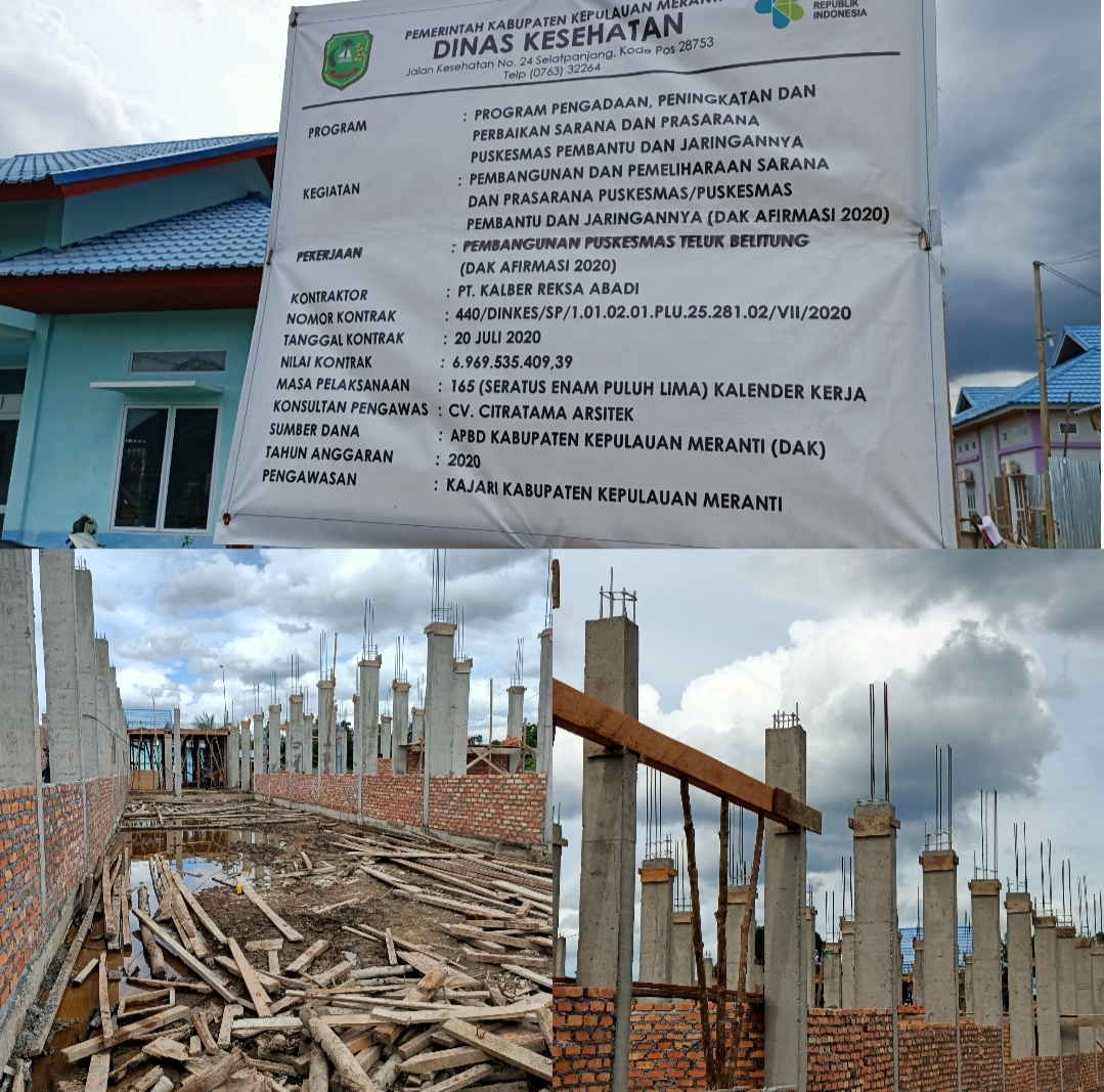 Memakai Dokumen Lelang Aspal, Proyek Puskesmas Teluk Belitung Diduga Dijual Dengan Fee 16%