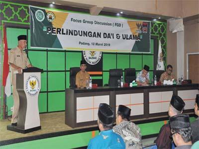 Pemko Padang Siapkan Perlindungan Hukum Bagui Ulama dan Dai