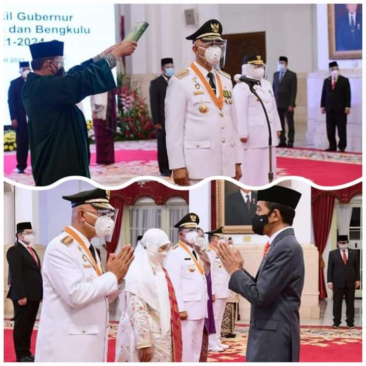 Mahyeldi dan Audy Resmi Dilantik Presiden Jokowi Sebagai Gubernur dan Wakil Gubernur Sumbar