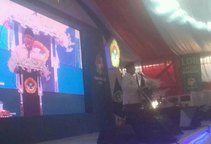 Letjend (Purn) Prabowo Subianto Beri Materi Hari Kedua Rakernas LDII 2018