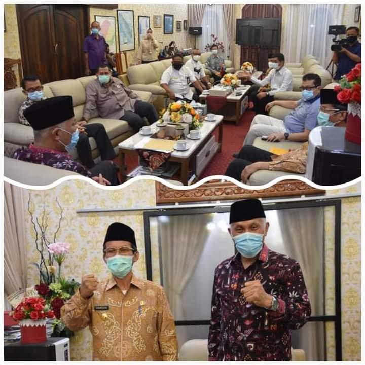PJ Gubernur Sumbar Hamdani Silaturrahim Dengan Gubernur Terpilih Mahyeldi, Bahas Isu-isu Terkini