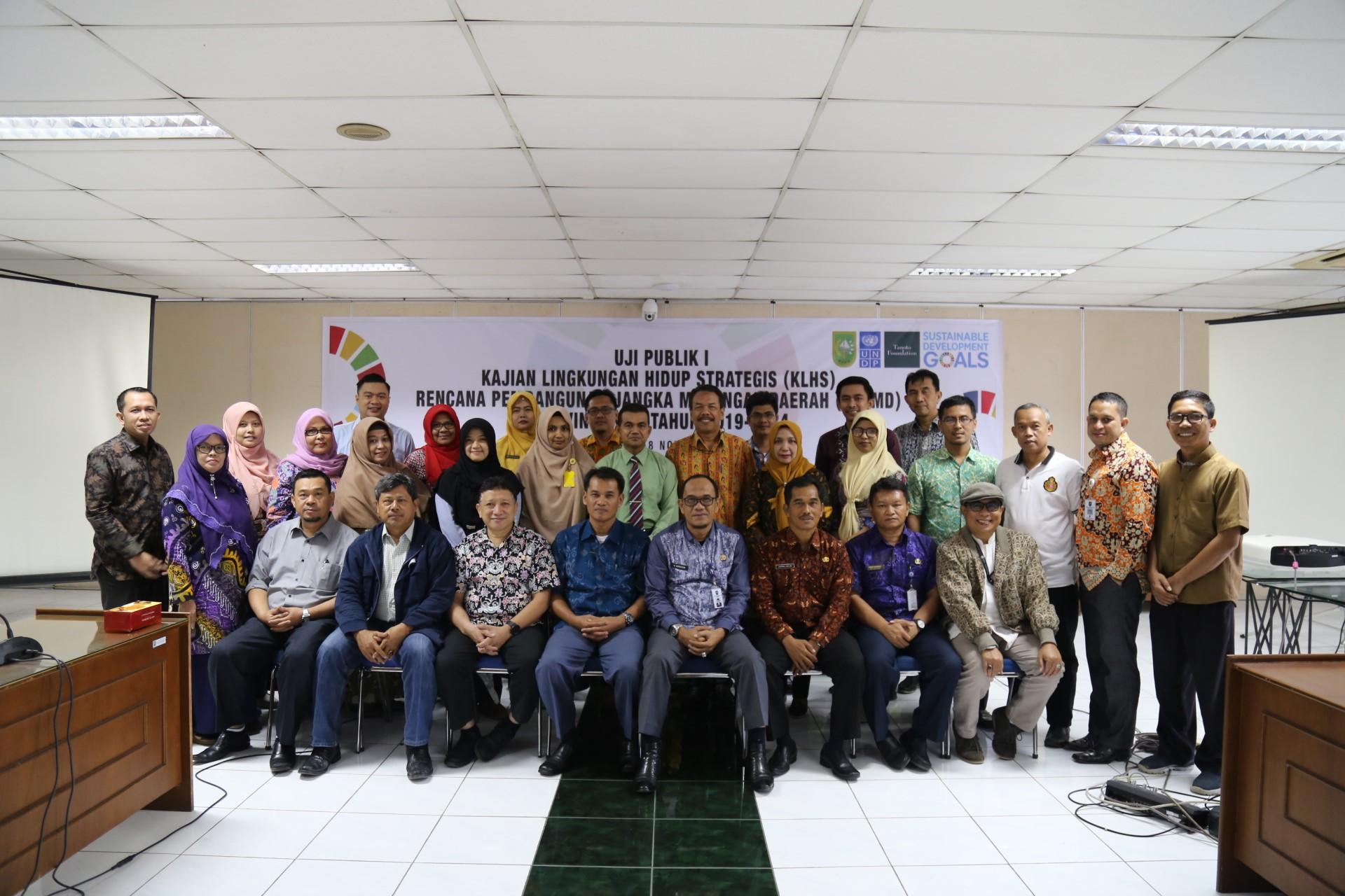 Uji Publik I Kajian Lingkungan Hidup Strategis (KLHS) RPJMD Provinsi Riau Tahun 2019-2024