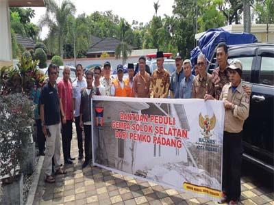 Tim Pengantar Bantuan Kemanusiaan Kota Padang Diberangkatkan Ke Solok Selatan