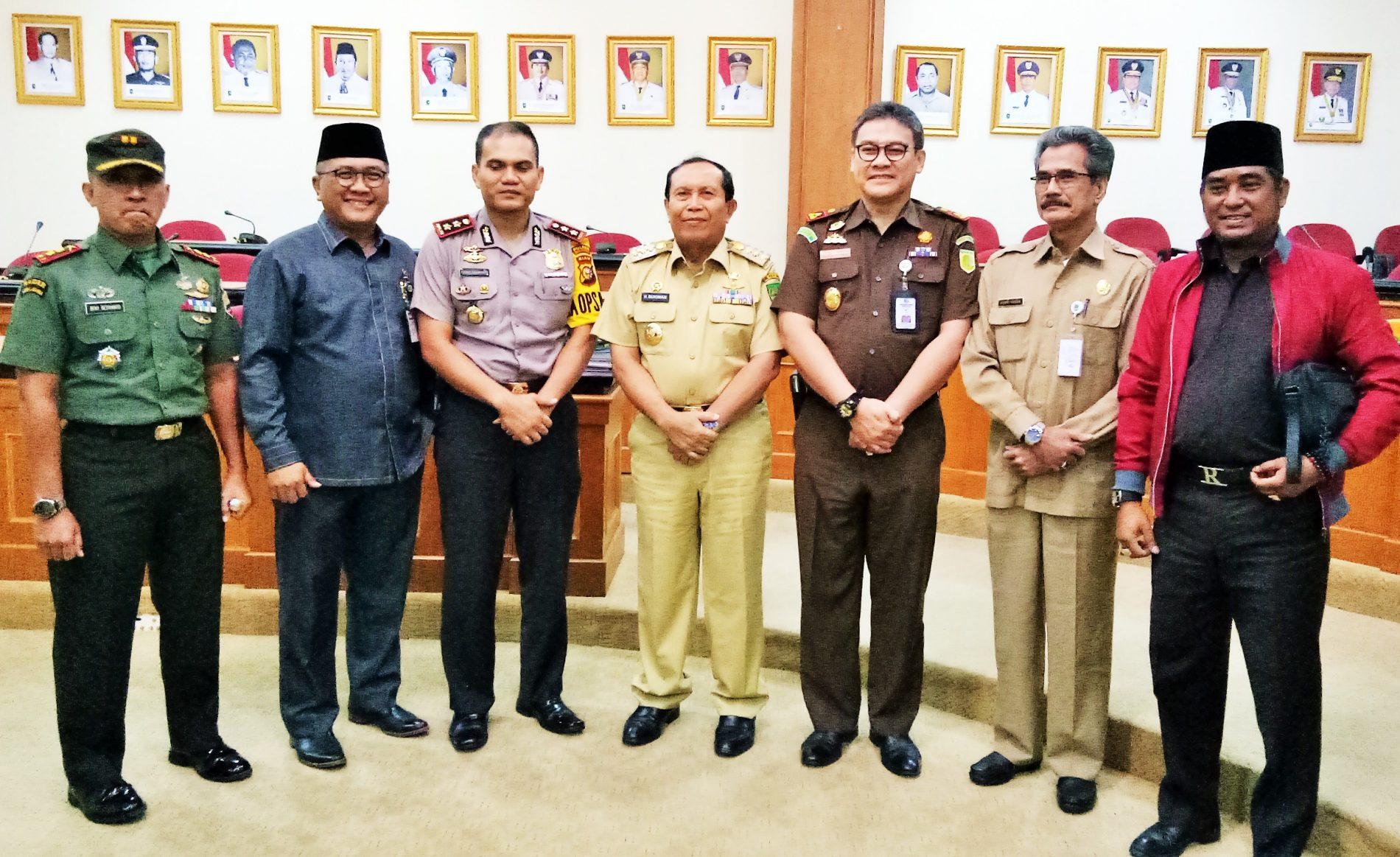 Pemkab Rohul bersama Pemprov Riau Gelar Rapat Tertutup Terkait APBD Rohul 2018