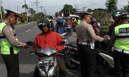 Operasi Ketupat 2019, Sepeda Motor Dominasi Pelanggaran Lalu Lintas di Riau