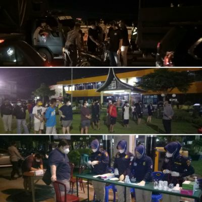 Cegah Penyebaran Covid-19, Malam Takbiran Polresta Padang Kembali Gelar Operasi Yustisi Perda AKB
