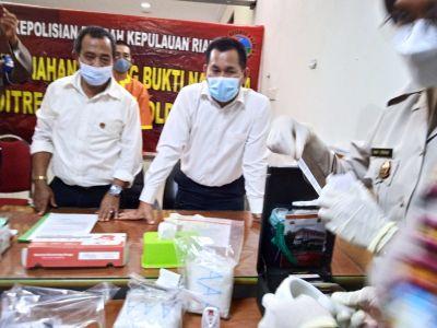 Ditresnarkoba Polda Kepri Musnahkan Barang Bukti  Narkotika Jenis Sabu, Pil Ekstasi, dan Ganja
