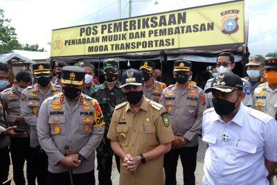 Kapolda Riau Tinjau Pos Penyekatan Perbatasan Kapolres Harus Ada di Lapangan