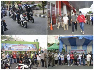 Pastikan Situasi Kondusif, Wako Hendri Septa dan Jajaran Tinjau Sejumlah Poskotis Lebaran di Padang