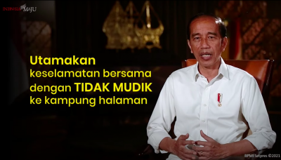 Presiden Jokowi: Mari Utamakan Keselamatan Bersama dengan Tidak Mudik ke Kampung Halaman